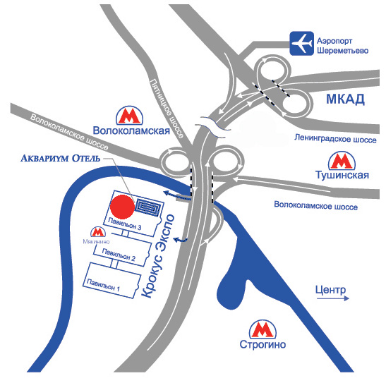 Москва-красногорск схема проезда
